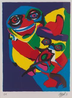 20th C Appel Karel 1921 2006 Masks Artist Proof Screen Print Framed Signed - 1914372