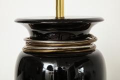 20th Century Black Porcelain Lamp - 899246