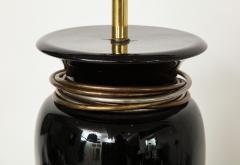 20th Century Black Porcelain Lamp - 899256