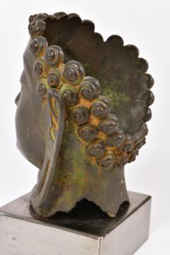 20th Century Bronze Buddha head - 1088452