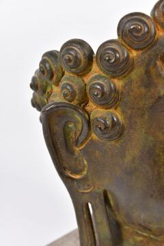 20th Century Bronze Buddha head - 1088453