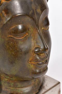20th Century Bronze Buddha head - 1088455