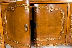 20th Century Burlwood Side Board Gold Design Details - 1038072