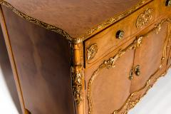 20th Century Burlwood Side Board Gold Design Details - 1038073