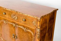 20th Century Burlwood Side Board Gold Design Details - 1038079