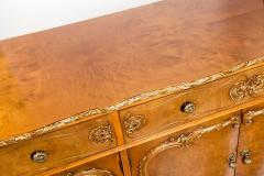 20th Century Burlwood Side Board Gold Design Details - 1038081
