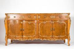 20th Century Burlwood Side Board Gold Design Details - 1038082