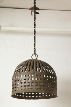 20th Century Iron Cage Chandelier Lucca and Co  - 904496