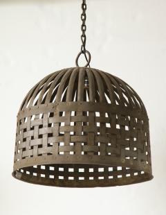 20th Century Iron Cage Chandelier Lucca and Co  - 904504