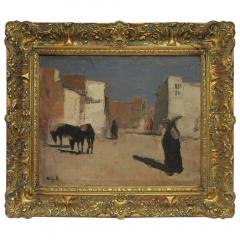 20th Century Oil Painting A Street in Luxor by Huub Hierck 1917 1978 - 1363133