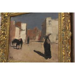 20th Century Oil Painting A Street in Luxor by Huub Hierck 1917 1978 - 1363145