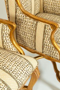 20th Century Pair of Giltwood Frame Bergeres Chairs Side Armchairs - 1131486