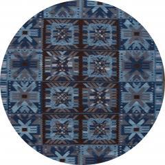 21st Century Blue Modern Swedish Style Wool Rug - 1538093