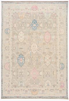 21st Century Contemporary Modern Oushak Style Wool Rug - 1493591