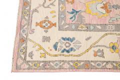 21st Century Contemporary Modern Oushak Style Wool Rug - 1493711