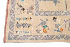 21st Century Contemporary Modern Oushak Style Wool Rug - 1493764