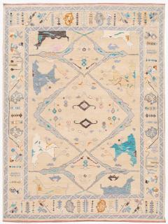 21st Century Contemporary Modern Oushak Style Wool Rug - 1493765