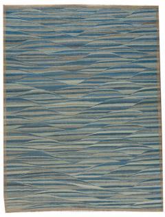 21st Century Modern Flatweave Kilim Style Wool Rug 9 x 12 - 1405366