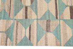 21st Century Modern Flatweave Kilim Style Wool Rug 9 x 14 - 1405304