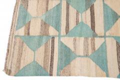 21st Century Modern Flatweave Kilim Style Wool Rug 9 x 14 - 1405305