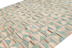21st Century Modern Flatweave Kilim Style Wool Rug 9 x 14 - 1405307