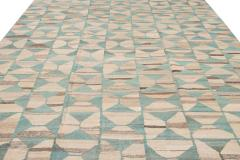 21st Century Modern Flatweave Kilim Style Wool Rug 9 x 14 - 1405309