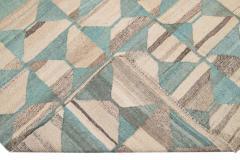 21st Century Modern Flatweave Kilim Style Wool Rug 9 x 14 - 1405310