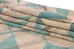21st Century Modern Flatweave Kilim Style Wool Rug 9 x 14 - 1405312