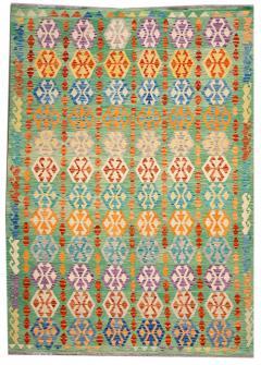 21st Century Modern Flatweave Kilim Wool Rug 8 x 12 - 1405627