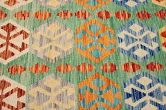 21st Century Modern Flatweave Kilim Wool Rug 8 x 12 - 1405633