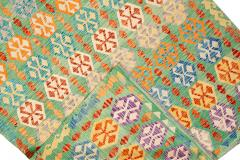 21st Century Modern Flatweave Kilim Wool Rug 8 x 12 - 1405635