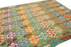 21st Century Modern Flatweave Kilim Wool Rug 8 x 12 - 1405636