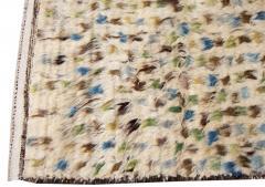 21st Century Modern Ivory Moroccan Tribal Wool Rug - 1558566