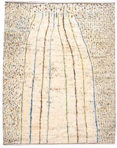 21st Century Modern Ivory Moroccan Tribal Wool Rug - 1558567