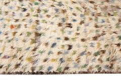 21st Century Modern Ivory Moroccan Tribal Wool Rug - 1558568