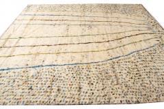 21st Century Modern Ivory Moroccan Tribal Wool Rug - 1558571
