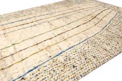21st Century Modern Ivory Moroccan Tribal Wool Rug - 1558573