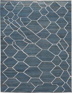 21st Century Modern Kilim Wool Rug 9 X 12 - 1405463