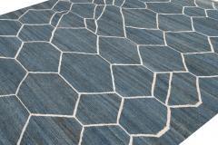 21st Century Modern Kilim Wool Rug 9 X 12 - 1405467