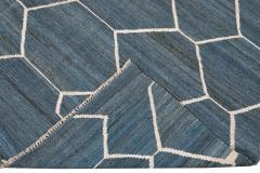 21st Century Modern Kilim Wool Rug 9 X 12 - 1405474