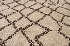 21st Century Modern Moroccan Beige Wool Rug - 1538604