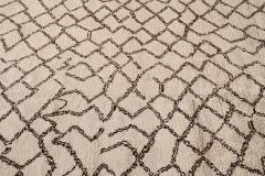 21st Century Modern Moroccan Beige Wool Rug - 1538606