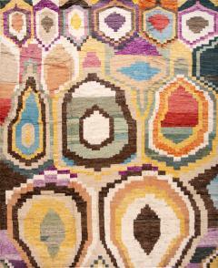 21st Century Modern Moroccan Style Wool Rug - 1409098
