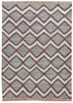 21st Century Modern Striped Flatweave Rug 9 x 13 - 1405864