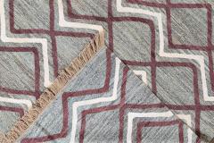 21st Century Modern Striped Flatweave Rug 9 x 13 - 1405865