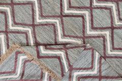 21st Century Modern Striped Flatweave Rug 9 x 13 - 1405866