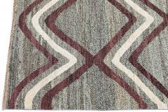 21st Century Modern Striped Flatweave Rug 9 x 13 - 1405868