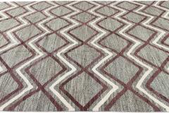 21st Century Modern Striped Flatweave Rug 9 x 13 - 1405869