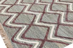21st Century Modern Striped Flatweave Rug 9 x 13 - 1405871