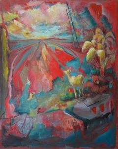 24 Cr Contact Point Contemporary Oil Painting by Ren e Rey - 1385312